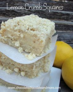 Lemon Crumb Squares-a recipe handed down from my grandma