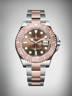 a0a4f890e8e The Rolex Yacht-Master 40 in Everose Rolesor with a chocolate dial ...