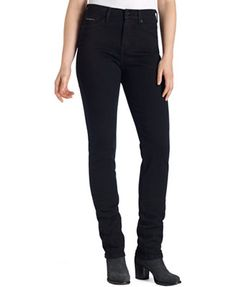 Levi's Petite Jeans, 512 Perfectly Slimming Skinny, Smooth Black Wash at Macy's