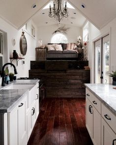Vintage Glam Tiny House on Wheels by Tiny Heirloom Tiny House Movement // Tiny Living // Tiny House Living Room // Tiny Home Kitchen // Tiny House Movement, Small Room Design, Tiny House Design, Tiny House Living, Home And Living, Small Living, Casa Hipster, Tiny House Luxury, Luxury Homes