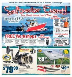 Bass Pro Saltwater Event features Phil Friedman Tuna Seminar & lots more November 1-2 – http://pforadio.com/wp-content/uploads/2014/09/BasProSaltwaterEvent2014Audio.mp3 Make no mistake about it! Bass Pro Shops at Rancho Cucamonga is in the SALTWATER FISHING GAME. To drive that point home, Bass Pro Shops, Rancho Cucamonga is having a great SALTWATER CELEBRATION, November 1-2. Phil EL GRINGO Friedman will be taking the stage at 4pm to talk TUNA and more and then at 5pm to do it again in...