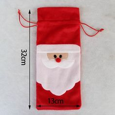 Christmas Xmas Wine Bottle Bag Drink Dinner Party Restaurant Table Decor S Christmas Present Bags, Christmas Gift Box, Easy Christmas Crafts, Christmas Bows, Simple Christmas, Xmas, Pochette Portable, Hand Painted Mugs, Hand Embroidery Videos