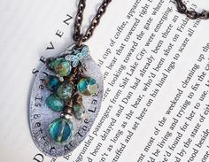 Life is Better at the LAKE Aqua Turquoise Beaded Stamped Vintage Hammered Silver Spoon Necklace by TurquoiseAndTrailers on Etsy https://www.etsy.com/listing/251868326/life-is-better-at-the-lake-aqua