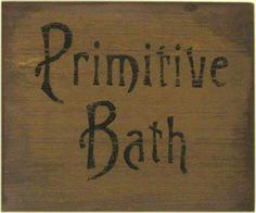 Primitive Sayings Crafts Bathroom Signs Primitives Label