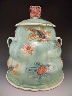 Jennifer Mecca is a potter who combines fun and function. Jen got her FIRST BFA at Virginia Commonwealth Uni (my son's alma mater). She lives  works in North Carolina.