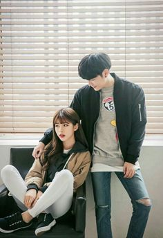 ulzzang couple ❤ couple goals, cute, korean boy and girl, kfashion, street style
