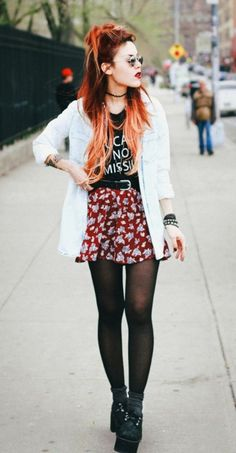grunge outfit from the 90s