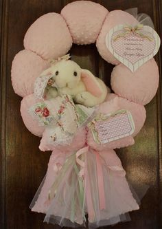"""65. Custom """"stephanie ann"""" baby wreath"""