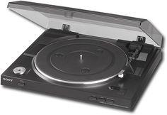 Sony - USB Stereo Turntable - Black, PSLX300USB