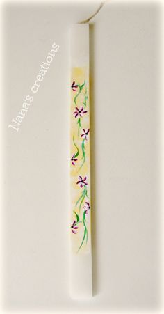 Painted Easter candle Easter Candle, Candles, Tableware, Handmade, Painting, Vintage, Dinnerware, Dishes, Painting Art