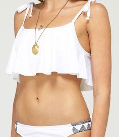 Radiate Love Tie Tank Bikini Top