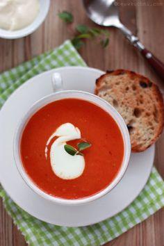 Jesień, pieczone pomidory i zupa