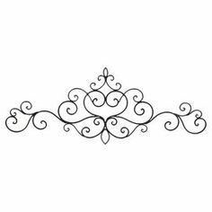"""Add an artful touch to your foyer or entryway with this captivating metal wall decor, showcasing an elegant scrolling silhouette.   Product: Wall decorConstruction Material: MetalColor: BlackDimensions: 17.72"""" H x 42.5"""" W"""