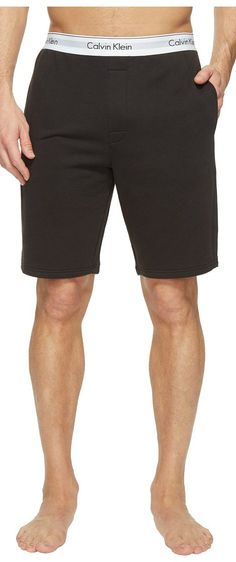 Calvin Klein Underwear Modern Cotton Stretch Lounge Shorts (Black) Men's Shorts - Calvin Klein Underwear, Modern Cotton Stretch Lounge Shorts, NM1358-001, Apparel Bottom Shorts, Shorts, Bottom, Apparel, Clothes Clothing, Gift - Outfit Ideas And Street Style 2017