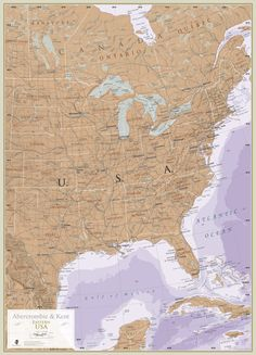 Eastern USA. Maps are for explorers, for planners, for dreamers and for inspiration. Repin to let us know if this map represents where in world you have visited before or where you dream to go next.