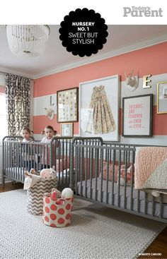 Sweet and sophisticated nursery decor