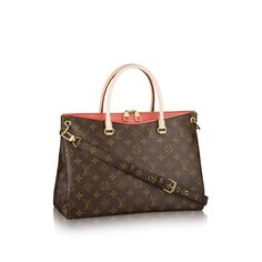 More than just a chic bag, the Louis Vuitton Pallas offers unique style and functionality. The iconic Monogram mixed with the leather Poppy trim gives it its distinctive look, while the adjustable shoulder strap and spacious interior give it daily functionality.