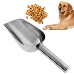 Stainless Steel Shovel Pet Feed Food Supplies High-Quality Thickening Pet Dog Shovel Products Shovel Dog Food Spoons 23.5x8x5cm