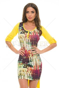 Rochie MissQ Longer Cut Yellow - MuJeR.ro http://www.mujer.ro/rochie-missq-longer-cut-yellow