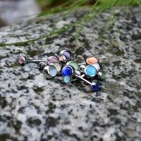 Double Cats Eye Belly Rings