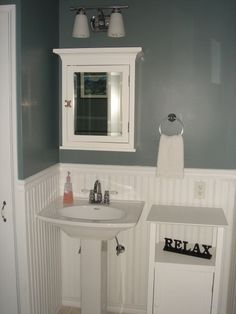 Small Powder Room Ideas | Small First Floor Powder Room, This is the powder room in my ninety ...