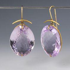 Rose De France Amethyst Earrings,Gabriella Kiss
