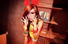 cute mouse ears red and yellow :3