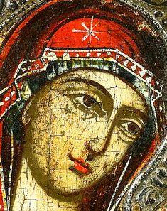 The Holy Theotokos. detail /The Eastern Orthodox Madonna, Byzantine Icons, Byzantine Art, Religious Icons, Religious Art, Christian Artwork, Religious Paintings, Holy Mary, Catholic Art
