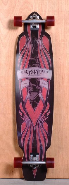 "The Gravity Big Kick Longboard Complete is designed for Freeride, Sliding and Cruising. Ships fully assembled and ready to skate!  Function: Freeride, Sliding, Cruising  Features: Kicktail, Concave  Material: 8 Ply Maple  Length: 45""  Width: 10.25""  Wheelbase: 33.75""  Thickness: 1/2""  Hole Pattern: New School and Old School  Grip: Black"