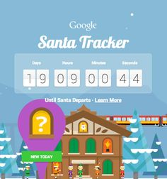 #Google's #SantaTracker countdown has begun! Head on over to the beautifully animated and interactiv website and join in on the countdown. A new activity or game opens every day during December leading up to Christmas Day! Get the little ones involved in this one too... it's magical and they will love it!
