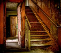 Beautiful decay in an abandoned house in Germany.  Love the color and texture so much!
