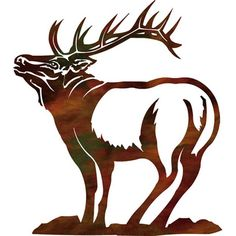 Proud Elk Metal Wall Art ~ 18