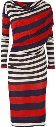 ShopStyle: Vivienne Westwood Anglomania Toga striped jersey dress