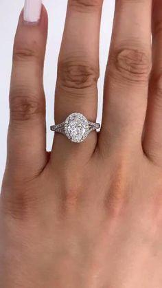 Halo Engagement Rings, Engagement Ring Settings, Oval Diamond, Diamond Rings, Halo Setting, Natural Diamonds, God's Plan, Wedding Rings, Prom