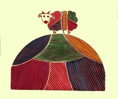 Linocut Linoleum Cut Colorful One Sheep Hill Originally 40 now only 15 dollars on Etsy, $16.23 AUD
