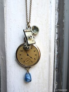 Camera and clock necklace