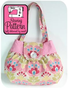 Bought this pattern. Handbag Patterns, Bag Patterns To Sew, Pdf Sewing Patterns, Quilted Purse Patterns, Tote Pattern, Wallet Pattern, Patchwork Patterns, Patchwork Designs, Patchwork Bags