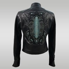 Turquoise Stud Motorcycle Jacket — Anat Marin Fall 2013 Collection - Handbags, Accessories, Apparel & Leather Goods for Women & Men