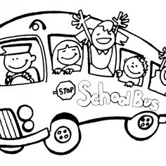 Free Printable Pictures Of Children For School Bus Download
