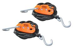 One product to lift up or tie down * Use as pulley to lift and lower loads by yourself * 300lb max rating per tie down * No moving parts to break or jam * (Placed within the Amazon Associates program) * 12:31 Mar 7 2017