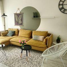Mustard Ikea 'Söderhamn' sofa @aysu.sener