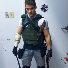 Michael as Chris Redfield from Resident Evil.