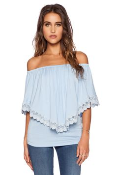 VAVA by Joy Han Halle Convertible Top in Baby Blue | REVOLVE