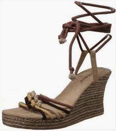 50%OFF #Shoes 50% OFF Shoes Through October 31 , 2014  Bamboo Woven Espadrille Wedge Sandal SZ 6   Runs 1/2 size  Small #Bamboo #PlatformsWedges