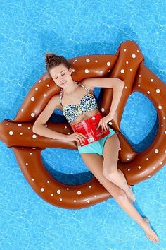 Because who wouldn't want to lounge in a giant pretzel?