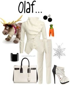 I LOVE these boards by Emily Vanek! Disney Fashion - Olaf by coloradomom featuring stud earrings Disney Dresses, Disney Outfits, Cute Outfits, Disney Inspired Fashion, Disney Fashion, Frozen Fashion, Frozen Outfits, Fandom Fashion, Disney Tips