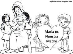 Carteles sobre la Virgen Maria
