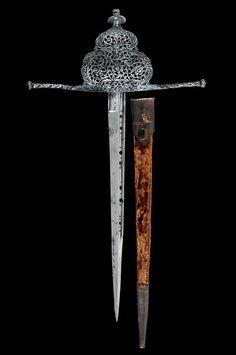 A pierced left hand dagger, Naples, 16th century