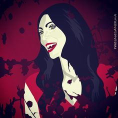 """Bloody Mary time with friends. Tonight I feel like a badass vampire So this """"old"""" illustration"""" fits perfectly. #LauraPrepon #AlexVause #OITNB #OrangeIsTheNewBlack #vector #illustration #badass #vampire #blood #throwbacktuesday #tbt"""