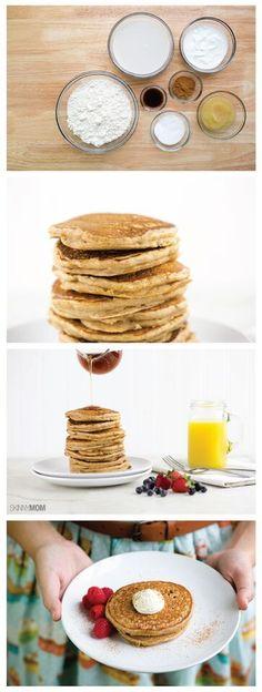 Cinnamon Toast Pancakes- Here's the perfect saturday morning breakfast!